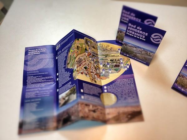 Diseño de Folletos Guía Senderos urbanos de Alicante
