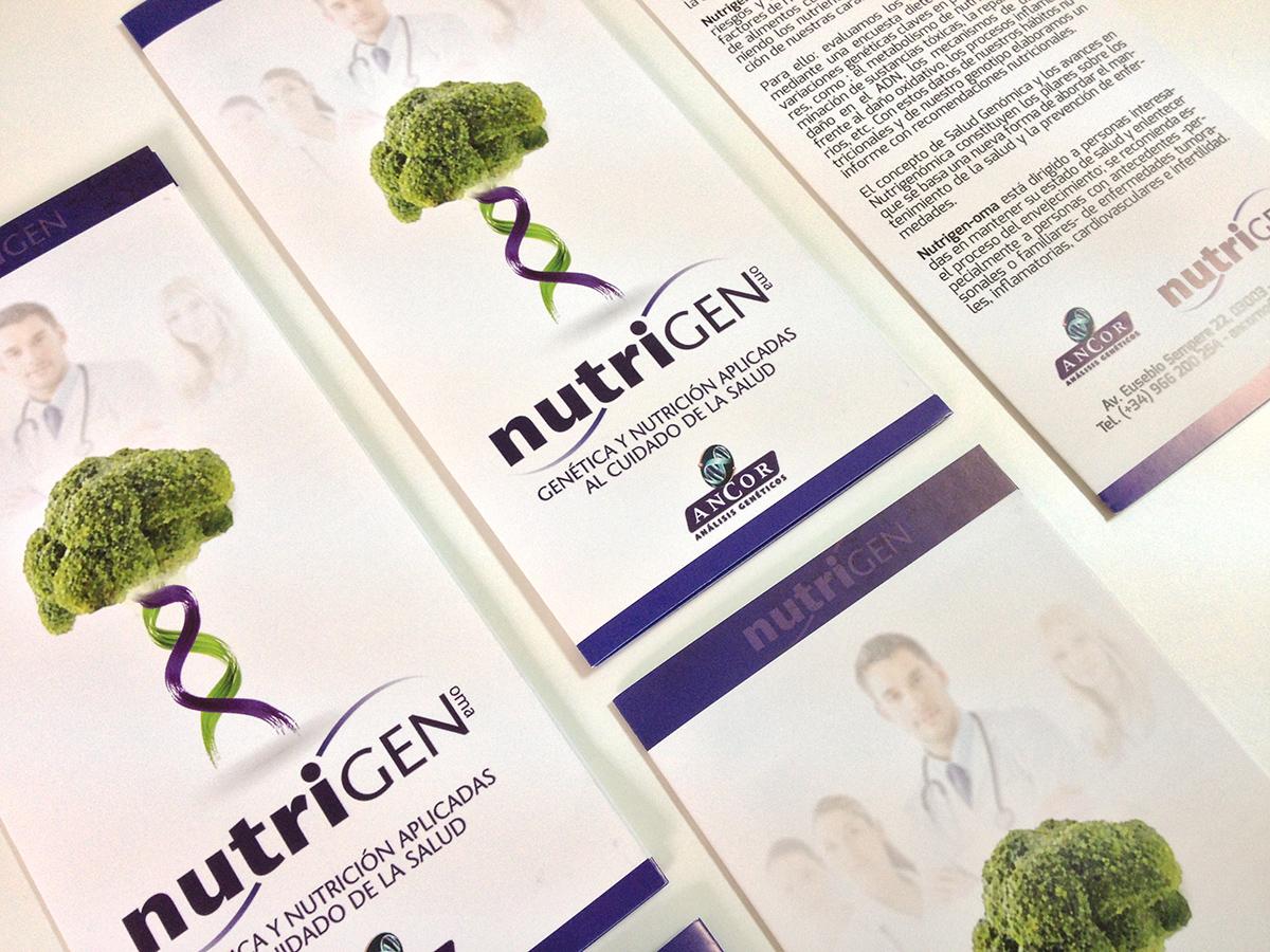 Folleto díptico para Nutrigen