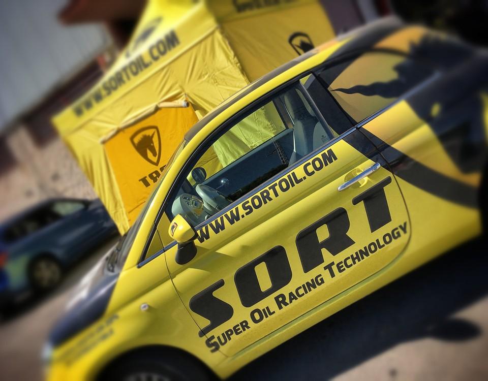 Rotulación integral de fiat 500 para SORT Internacional
