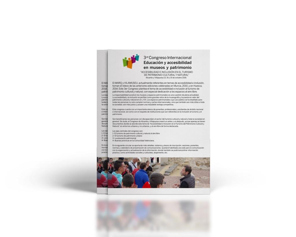Primera circular del 3Er Congreso de Accesibilidad en el MARQ