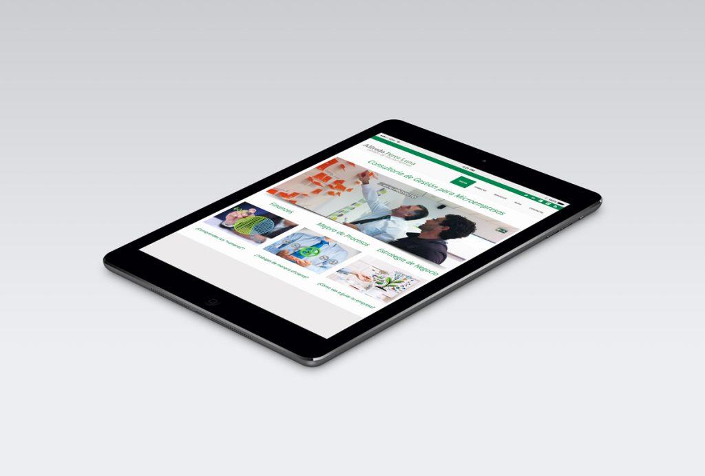 Diseño de Web para Alfredo Pérez Luna
